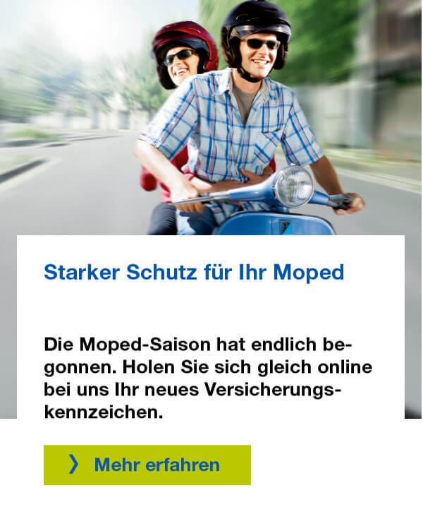Jetzt Mopedversicherung abschließen