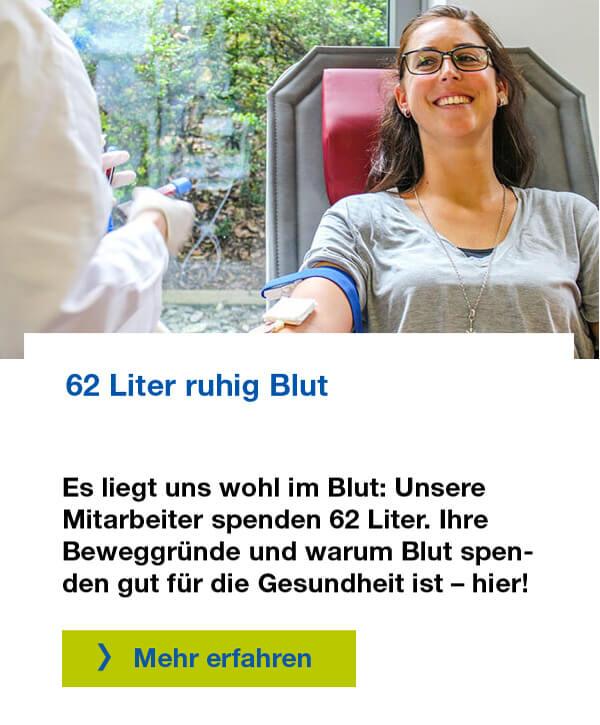 Mitarbeiter der Versicherungskammer Bayern spenden Blut – für den guten Zweck und für die Gesundheit