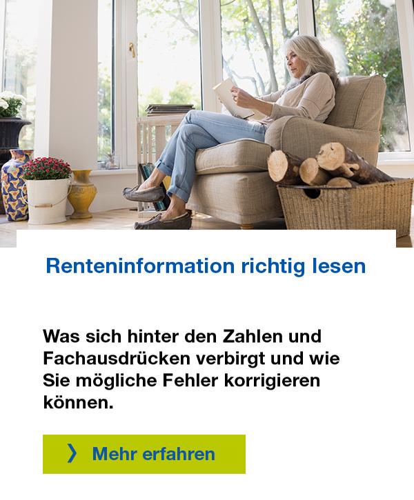 Renteninformation lesen und verstehen