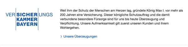 Versicherungskammer Bayern: Sie haben gute Gründe, uns zu vertrauen.